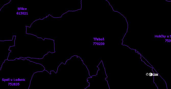 Katastrální mapa Třeboň