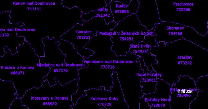 Katastrální mapa Třemošnice
