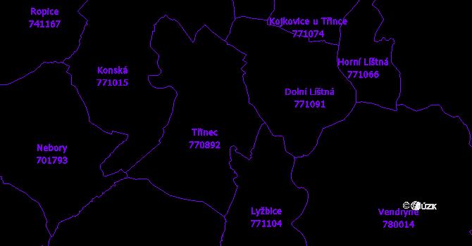 Katastrální mapa Třinec