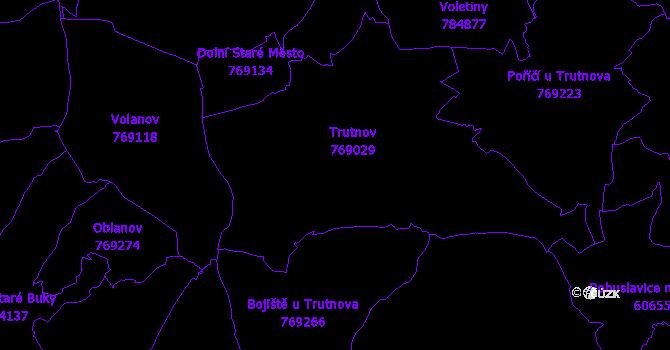 Katastrální mapa Trutnov