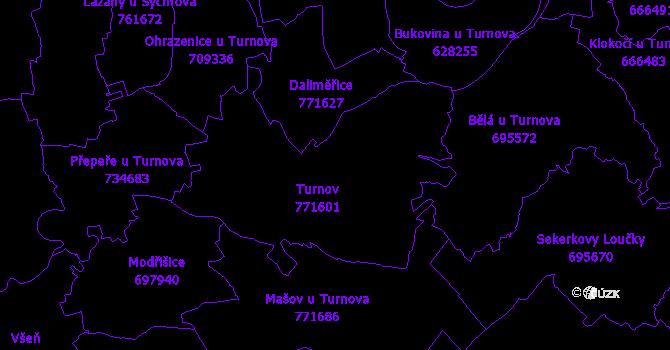 Katastrální mapa Turnov