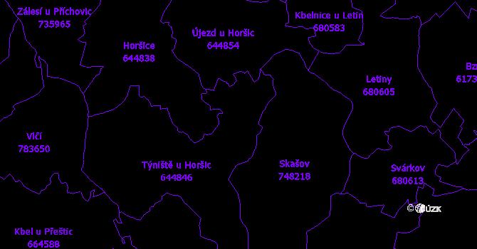 Katastrální mapa Týniště