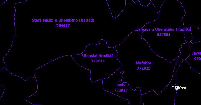 Katastrální mapa Uherské Hradiště