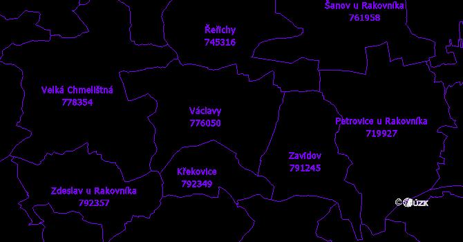 Katastrální mapa Václavy
