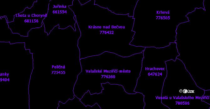 Katastrální mapa Valašské Meziříčí