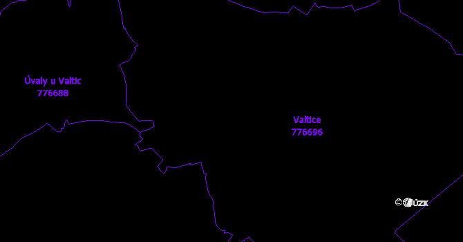 Katastrální mapa Valtice
