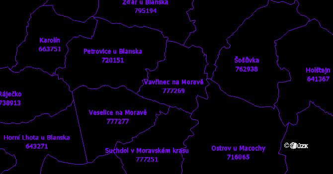 Katastrální mapa Vavřinec