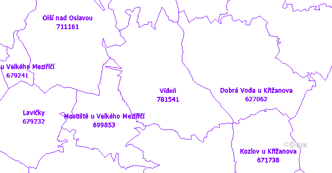 Katastrální mapa Vídeň