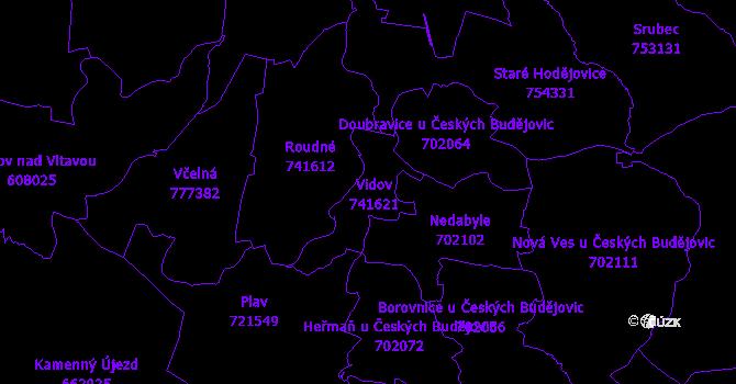 Katastrální mapa Vidov