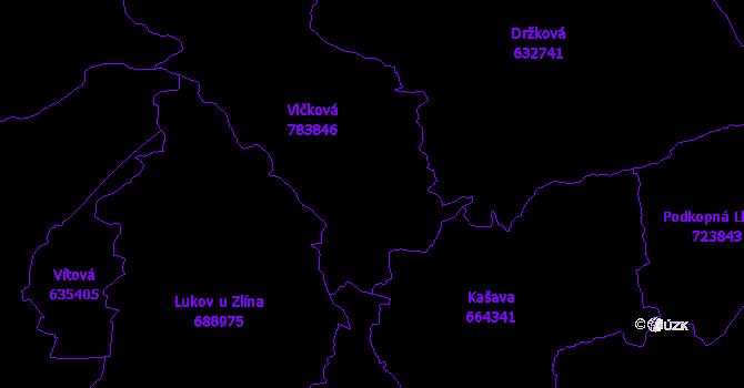 Katastrální mapa Vlčková