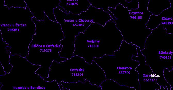 Katastrální mapa Vodslivy