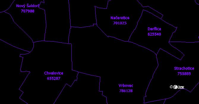 Katastrální mapa Vrbovec