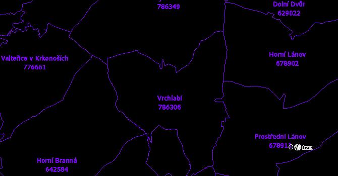 Katastrální mapa Vrchlabí