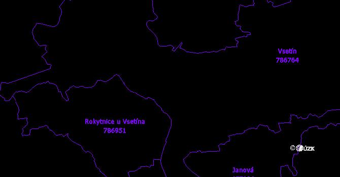 Katastrální mapa Vsetín