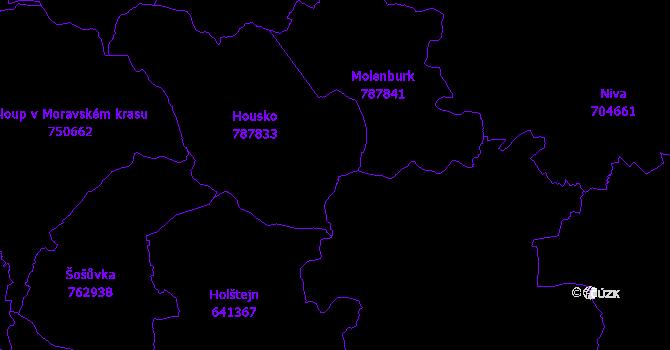 Katastrální mapa Vysočany