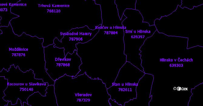 Katastrální mapa Vysočina