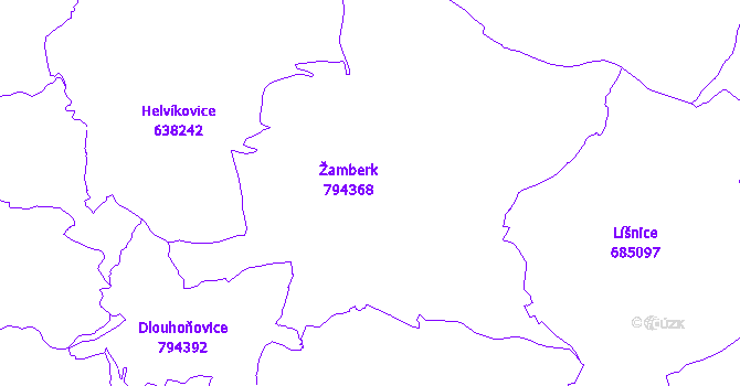 Katastrální mapa Žamberk