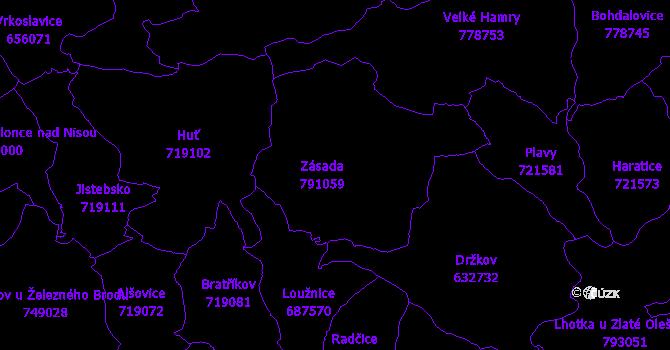 Katastrální mapa Zásada