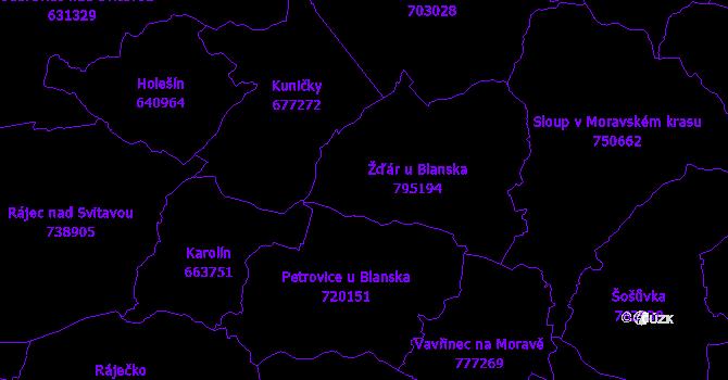 Katastrální mapa Žďár