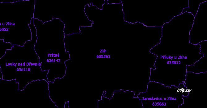 Katastrální mapa Zlín