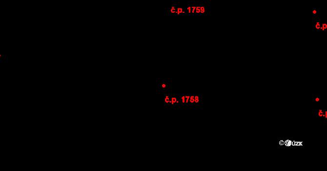 Nový Hradec Králové 1758, Hradec Králové na parcele st. 3072 v KÚ Nový Hradec Králové, Katastrální mapa