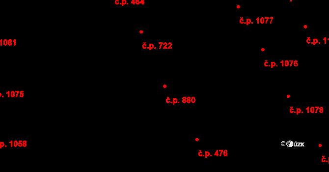 Žižkov 880, Praha na parcele st. 1030/1 v KÚ Žižkov, Katastrální mapa