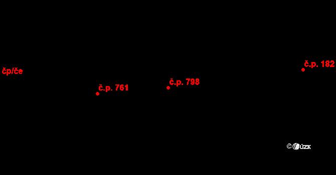 Prštné 798, Zlín na parcele st. 1258 v KÚ Prštné, Katastrální mapa