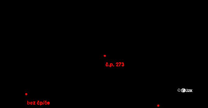 Zvoleněves 273 na parcele st. 310 v KÚ Zvoleněves, Katastrální mapa