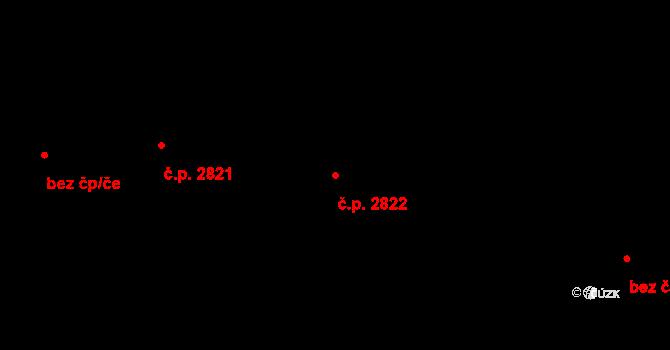 Jižní Předměstí 2822, Plzeň na parcele st. 8490/22 v KÚ Plzeň, Katastrální mapa