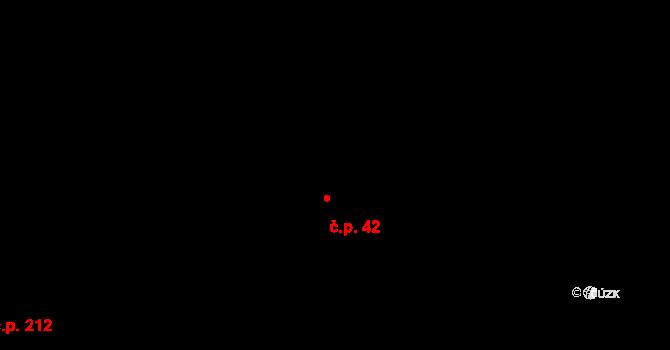 Davle 42 na parcele st. 72 v KÚ Davle, Katastrální mapa