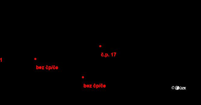 Chvalšovice 17, Čachrov na parcele st. 23 v KÚ Chvalšovice u Čachrova, Katastrální mapa