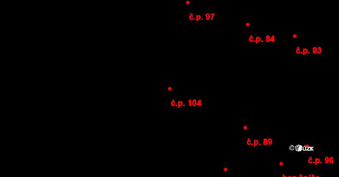 Milý 104 na parcele st. 120 v KÚ Milý, Katastrální mapa
