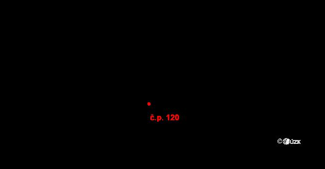 Horní Domaslavice 120 na parcele st. 89 v KÚ Horní Domaslavice, Katastrální mapa