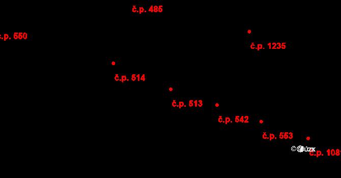 Hradec Králové 513 na parcele st. 602/1 v KÚ Hradec Králové, Katastrální mapa