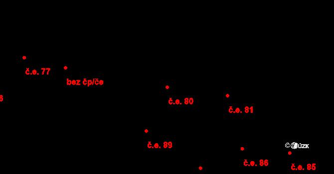 Prštné 80, Zlín na parcele st. 867 v KÚ Prštné, Katastrální mapa