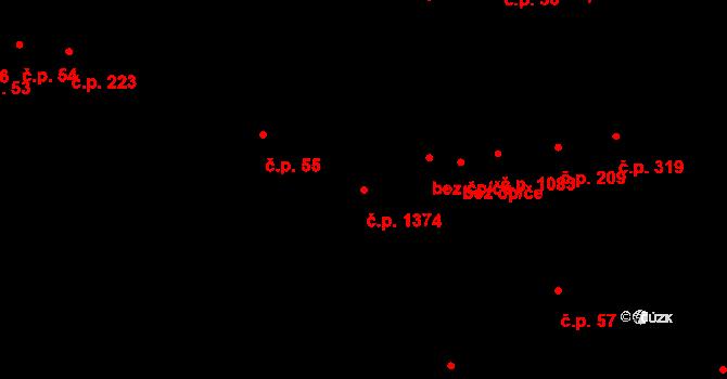 Bystrc 1374, Brno na parcele st. 322/5 v KÚ Bystrc, Katastrální mapa
