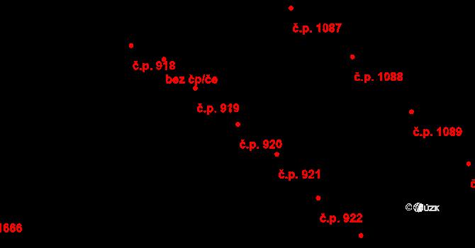 Strážnice 920 na parcele st. 527 v KÚ Strážnice na Moravě, Katastrální mapa