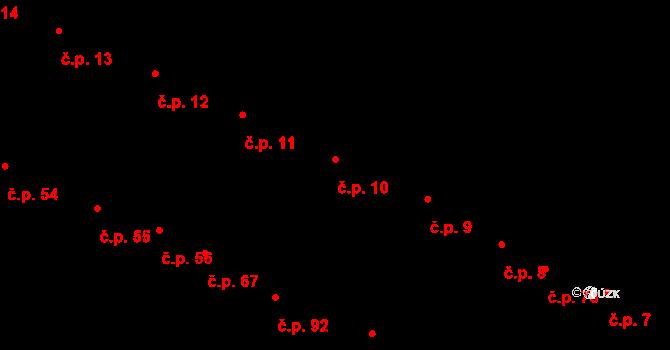 Karolín 10 na parcele st. 60 v KÚ Karolín u Sulimova, Katastrální mapa