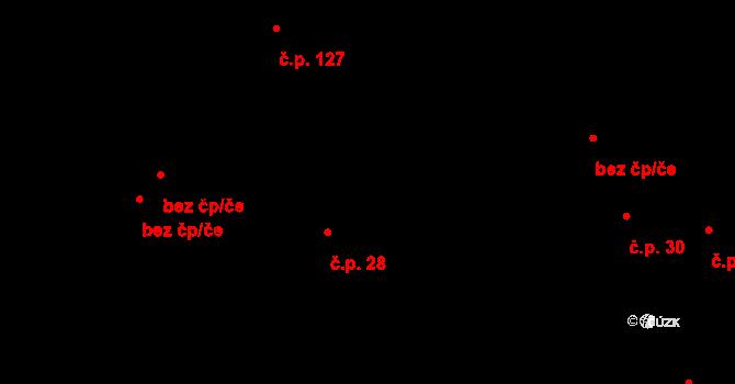 Děhylov 28 na parcele st. 115 v KÚ Děhylov, Katastrální mapa