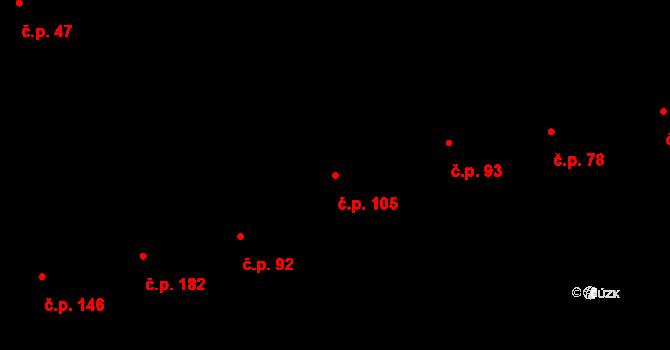 Karlín 105, Praha na parcele st. 318 v KÚ Karlín, Katastrální mapa