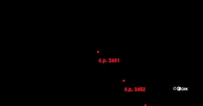 Brandýs nad Labem 2451, Brandýs nad Labem-Stará Boleslav na parcele st. 3172 v KÚ Brandýs nad Labem, Katastrální mapa
