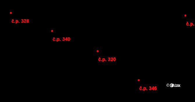 Tetčice 320 na parcele st. 562/36 v KÚ Tetčice, Katastrální mapa
