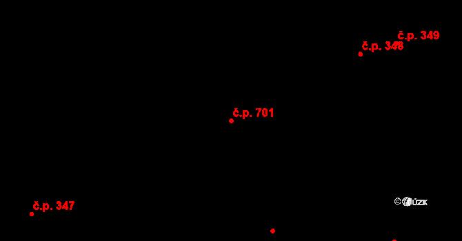 Chrudim II 701, Chrudim na parcele st. 3954 v KÚ Chrudim, Katastrální mapa