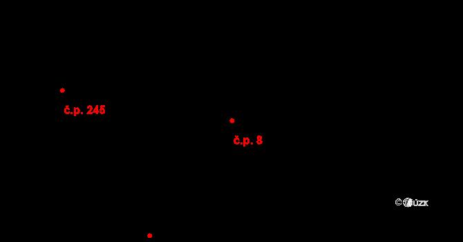 Lípa 8 na parcele st. 260 v KÚ Lípa nad Dřevnicí, Katastrální mapa