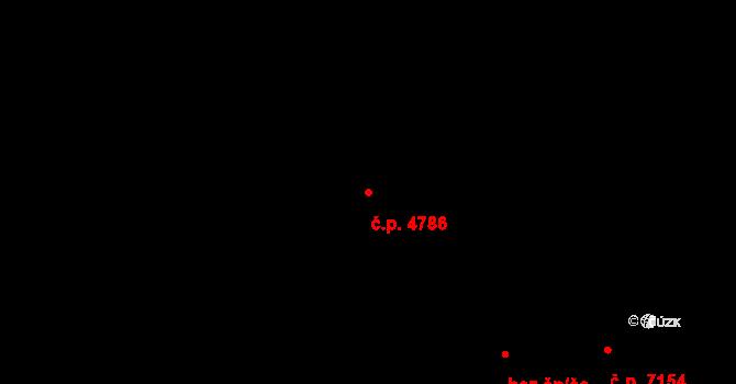 Zlín 4786 na parcele st. 7267/1 v KÚ Zlín, Katastrální mapa