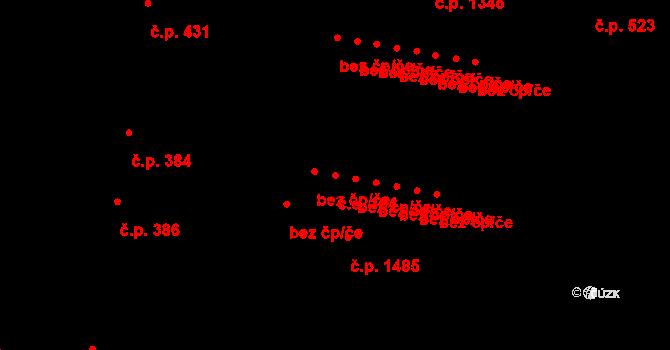 Hostivař 104, Praha na parcele st. 1261/3 v KÚ Hostivař, Katastrální mapa