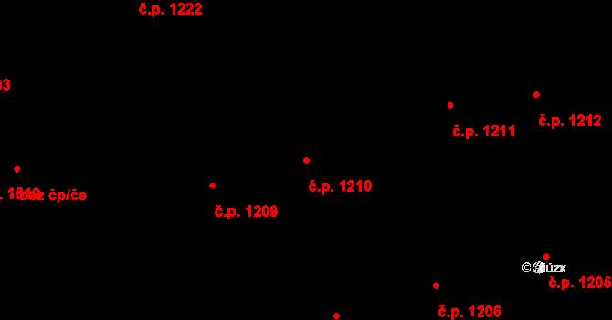 Horní Litvínov 1210, Litvínov na parcele st. 1980 v KÚ Horní Litvínov, Katastrální mapa