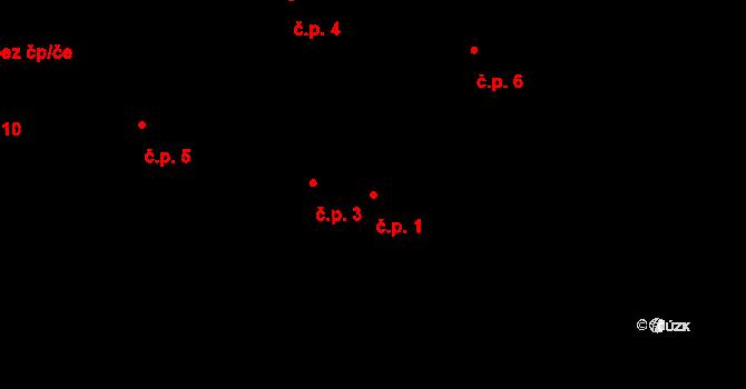 Horní Paseky 1, Aš na parcele st. 95/2 v KÚ Horní Paseky, Katastrální mapa