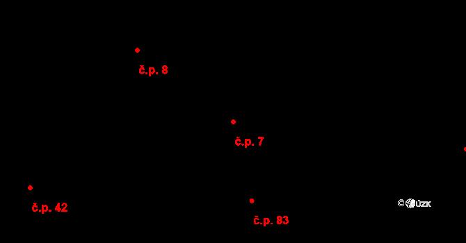 Sedlejov 7 na parcele st. 7/1 v KÚ Sedlejov, Katastrální mapa