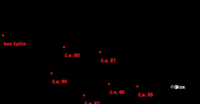 Prštné 81, Zlín na parcele st. 866 v KÚ Prštné, Katastrální mapa